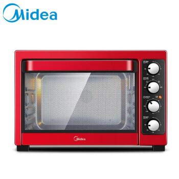 Midea電気オーブン家庭用38 L大容量ヒートオンオーブンT 3-381 C上下独立温度制御赤