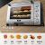ACA電気オーブン商用45 Lオーブン家庭用ホットオーブケーキATO-M 4517 ABシルバーグレー